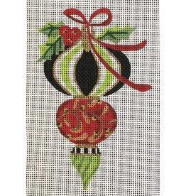 Kelly Clark Peridot & Holly Triple Ornament, Heritage Ornament