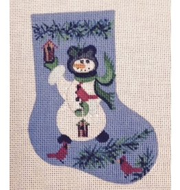 Winnetka Snowman w/Birdhouse Mini Stocking ornament