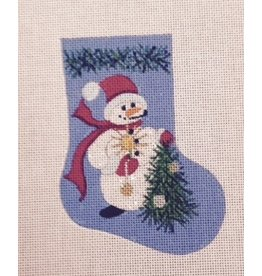 Winnetka Snowman w/Christmas Tree Mini Stocking ornament
