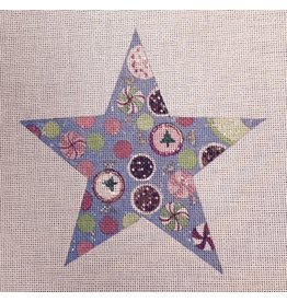 Winnetka Star with circles within - ornament<br />