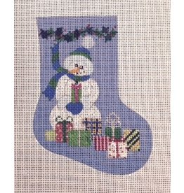 Winnetka Snowman w/presents Mini Stocking - ornament