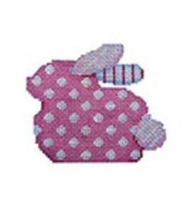 Associated Talent Pink Polka Dot Baby Bunny<br />3.25&quot; x 2.75&quot;