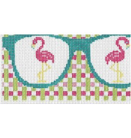 Barbara Bergsten Flamingos Eyeglass Case<br />