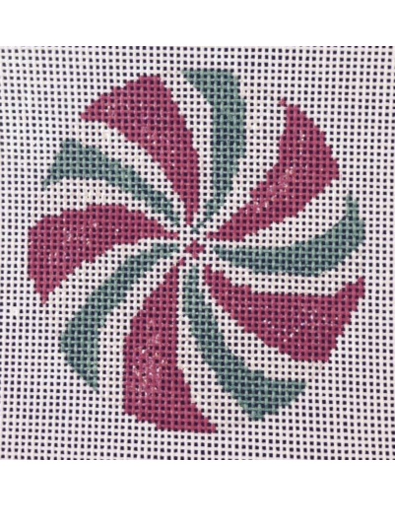 All About Stitching Green & Red Lollipop - ornament