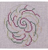 All About Stitching Multi Swirls Lollipop -ornament<br />4&quot; Round