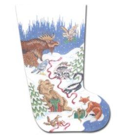 CBK Needlepoint Forest Animals I Stocking<br />20&quot;