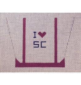 CBK Needlepoint Gift Bag - I Love SC<br />ornament