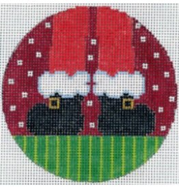 Meredith Santa&#039;s Feet - ornament<br />5&quot; Round