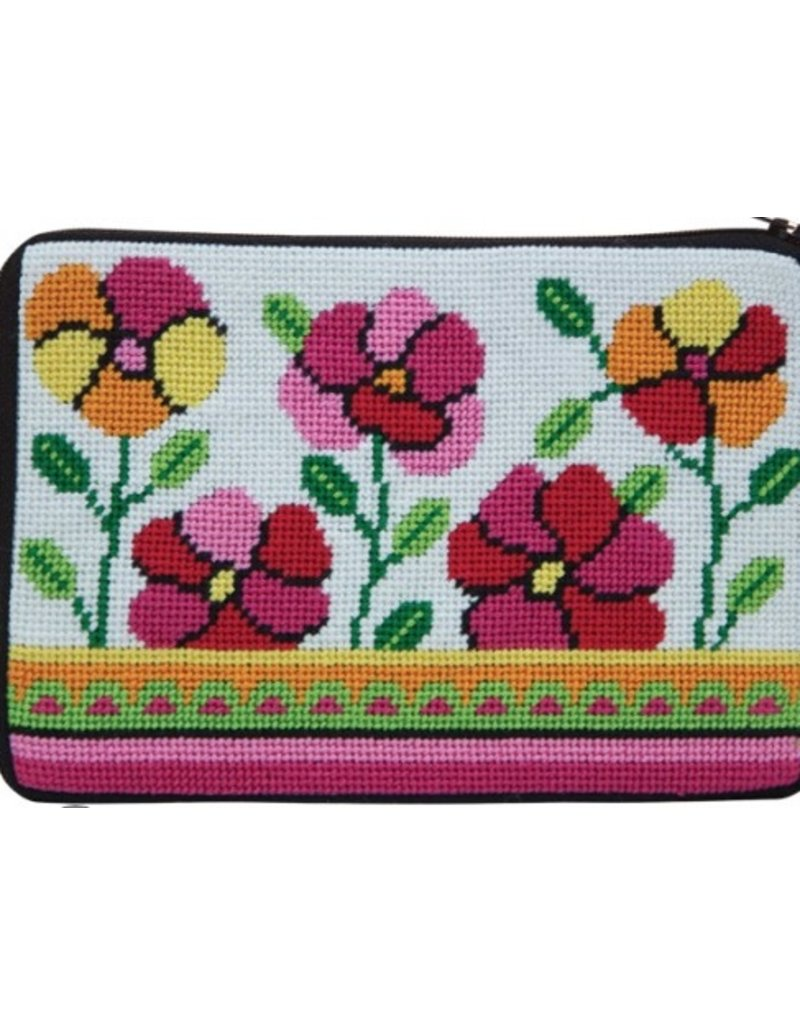 Alice Peterson Pink & Orange Poppies Cosmetic Case