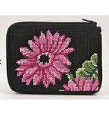 Alice Peterson Pink Gerber Daisies Credit Card Case