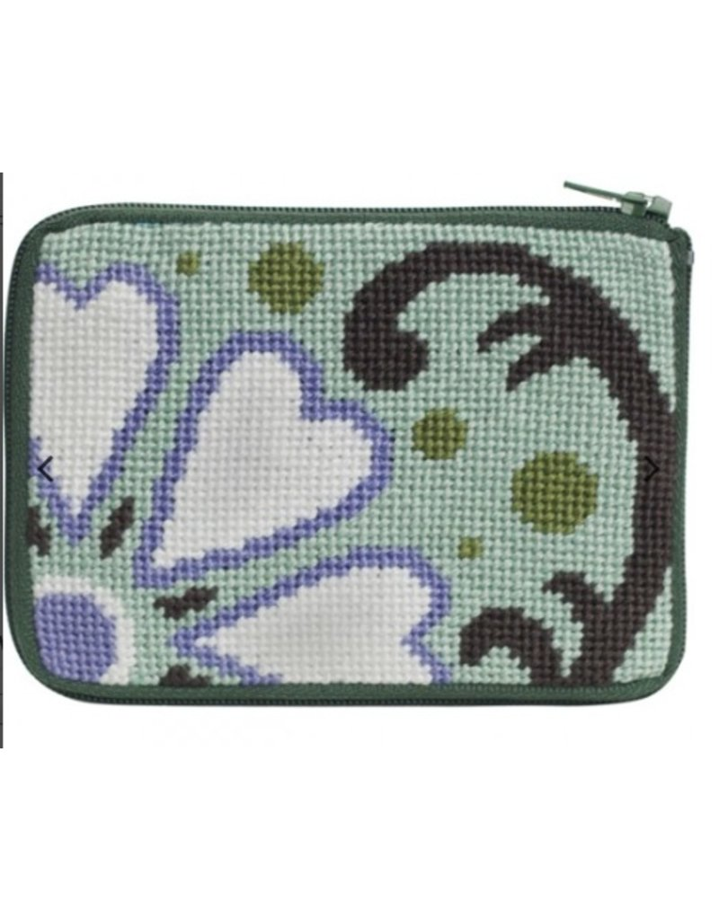 Alice Peterson White Heart Floral Credit Card Case