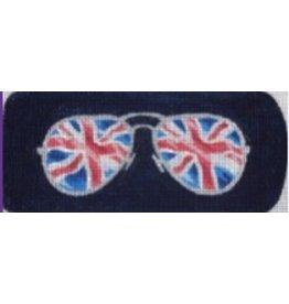 Kirk &amp; Hamilton Union Jack Eye Glass Case<br />3.25&quot; x 7&quot;