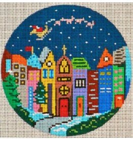 Patti Mann Santa &amp; Reindeer over the City<br />