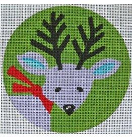 Patti Mann Purple Reindeer<br />4.5&quot; Round
