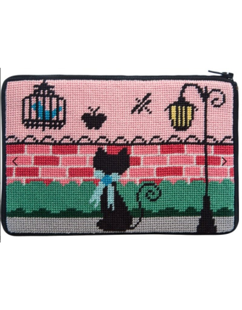 Alice Peterson Kitty Kat Cosmetic Purse