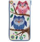 Alice Peterson Owls Eye Glass Case