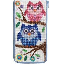 Alice Peterson Owls Eye Glass Case