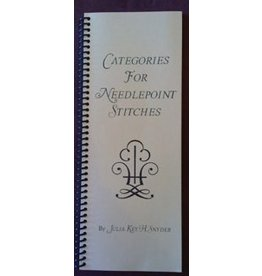 Julia Snyder Catagories for Needlepoint Stitches book