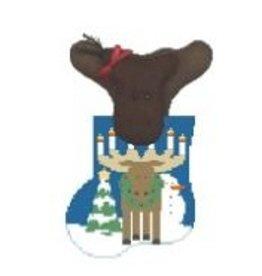 Kathy Schenkel Moose Candelabra w/Moose