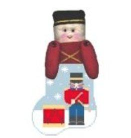 Kathy Schenkel Drummer Boy w/Soldier Mini Stocking ornament