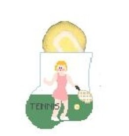 Kathy Schenkel Girl Tennis w/Ball Mini Stocking ornament