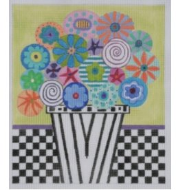 BB Needlepoint Design Flowers &amp; Checks<br />