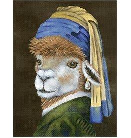Melissa Shirley Llama w/Pearl Earing<br />8&quot; x 10.5&quot;