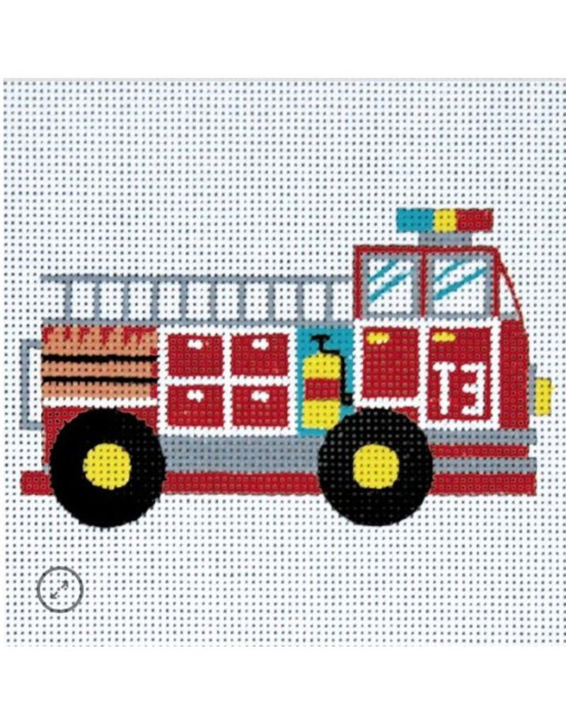 """Alice Peterson Small Fire Truck<br /> 6"""" x 6"""""""