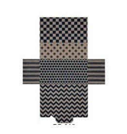 "JP Needlepoint Camel &amp; Navy Graphics Brick Bag Purse<br /> 5"" x 9"""