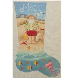 Labors of Love Santa on the Beach Stocking<br /> w/Stitch Guide