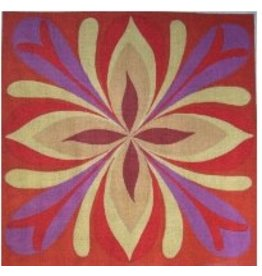 "Unique NZ Designs Sunburst - Purple, Red &amp; Yellow<br /> 15"" x 15"""
