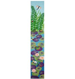 "JP Needlepoint Frogs &amp; Lily Pads Bell Pull<br /> 7"" x 40"""