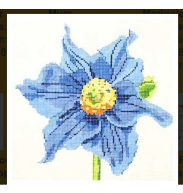 "Jean Smith Designs Simple Flowers - Blue Poppy<br /> 8"" X 8"""