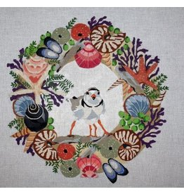 Melissa Prince Plover & Chick in Seaside Wreath
