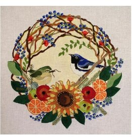 Melissa Prince Blue Thrushes Wreath