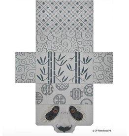 JP Needlepoint Panda & Bamboo Brick Bag Purse