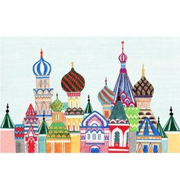 "Unique NZ Designs Russian Architecture<br /> 18"" x 12"""