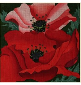 "Fleur de Paris Giant Poppies<br /> 14"" x 14"""