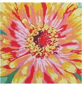 "Jean Smith Designs Zennia - yellow - orange, pink &amp; red<br /> 14"" x 14"""