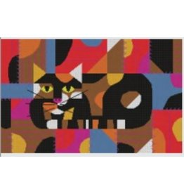 "Meredith Charley Harper's ""Crazy Cat""<br /> 15.5"" x 9.5"""