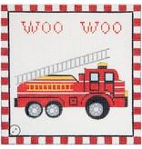 "Alice Peterson Woo Woo Firetruck<br /> 7.25"" x 7.25"""