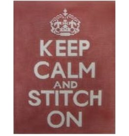 "Unique NZ Designs Keep Calm and Stitch On<br /> 8"" x 10"""