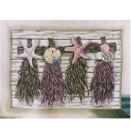"Lani Purple Beach Floral<br /> 9"" x 12"""