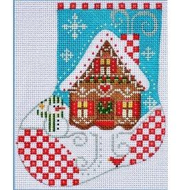 Danji Gingerbread House Mini stocking ornament