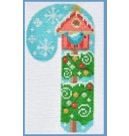 Danji Bird House Candycane ornament