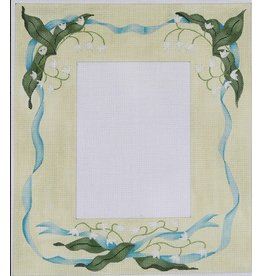 "Kate Dickerson Lily of the Valley Picture Frame<br /> 10.5"" x 12"" (5"" x 7"" opening)"