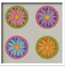 """Pepperberry Design 4 Crazy Daisy Coasters<br /> 4"""" Round"""