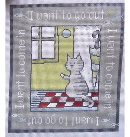 "Pippin Studio I want to go out/I want to come in<br /> 7.5"" x 8.5"""