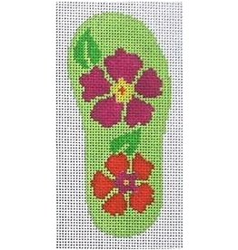 Julia Floral Flip Flop ornament