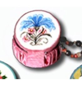 Fleur de Paris Yellow Jewelry Bag with Heart & Flower pattern on top - self finishing